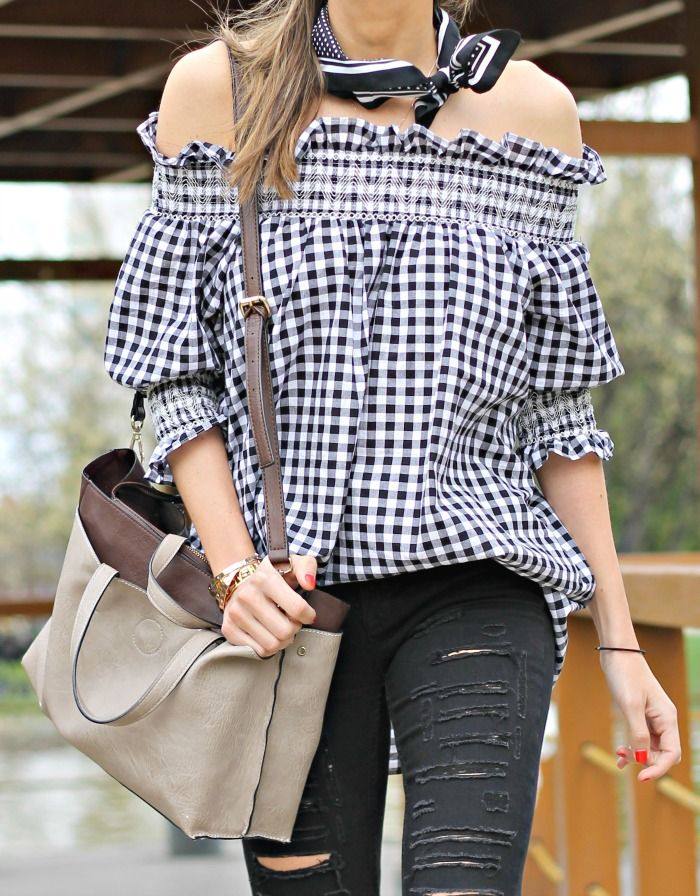 Clad in this cute gingham tunic, you are off to a fresh start of a beautiful day ahead! Sassed up with a ruffle trimmed shirred shoulder, a pleated bodice, and sweet puffy sleeves, this lovely check wonder is a sign of stylish times in your past, present, and future. by lookandchic   chicwish.com