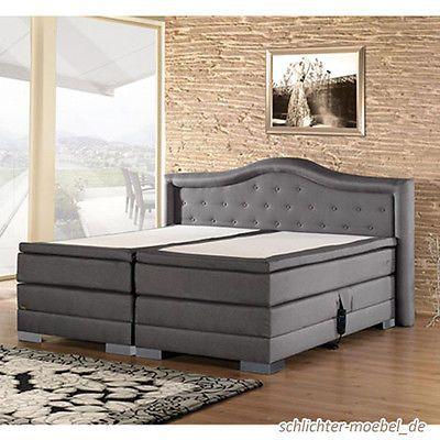 CROWN Boxspringbett Hotelbett Designerbett - elektrisch verstellbar