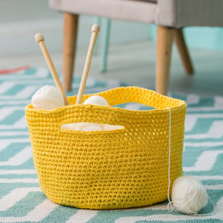 tuto crochet facile / un panier de rangement à faire en crochet / diy facile crochet                                                                                                                                                     Plus