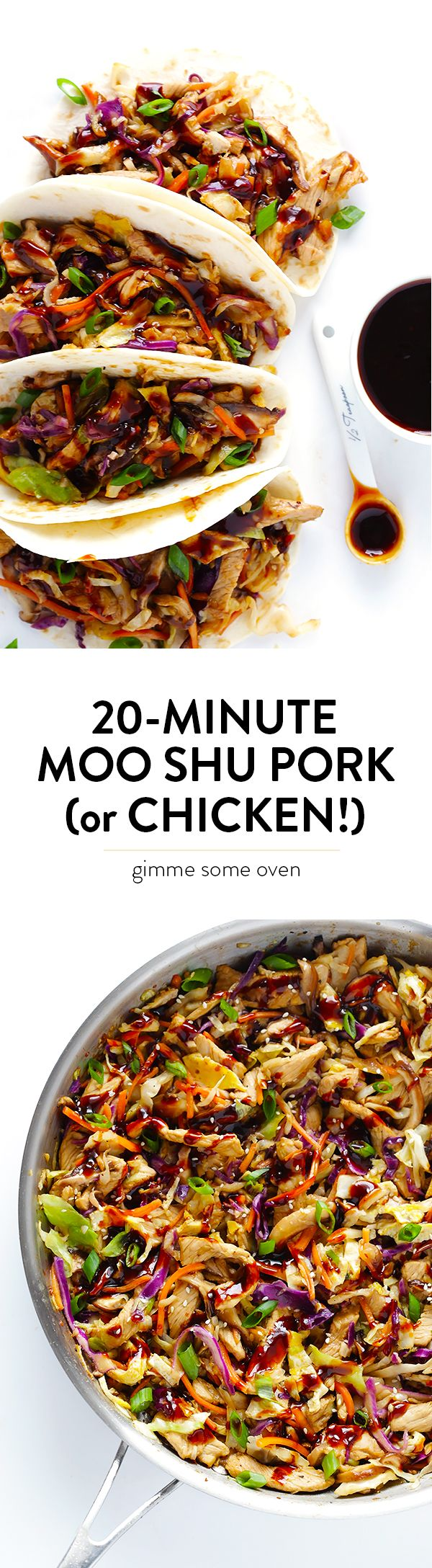 20-Minute Moo Shu Pork (or Chicken) - So easy, so fresh, and soooo good!