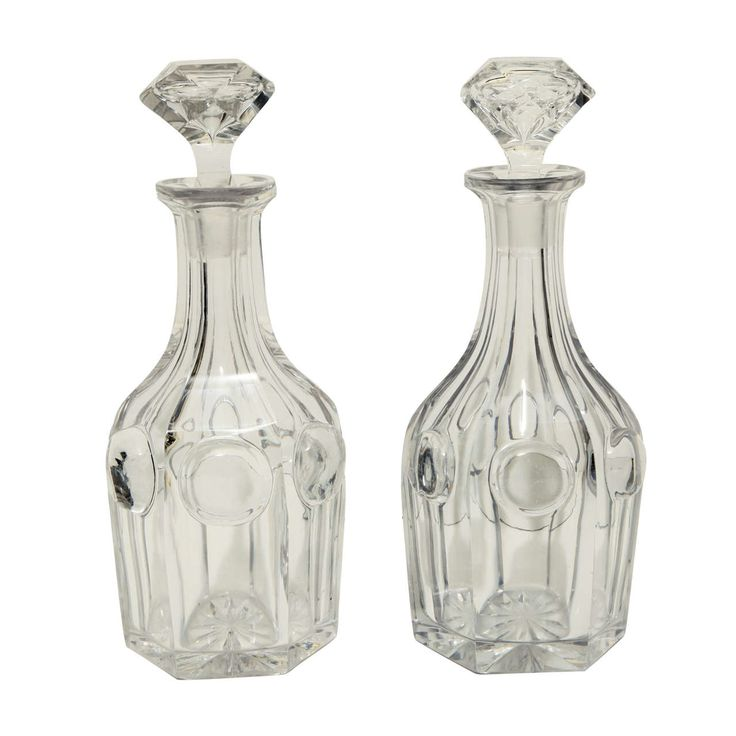 Rare Cut Crystal Victorian Decanters | From a unique collection of antique and modern barware at https://www.1stdibs.com/furniture/dining-entertaining/barware/