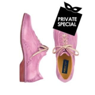 Pink Italian Hand Made Calf Leather Lace-up Shoes by Pakerson