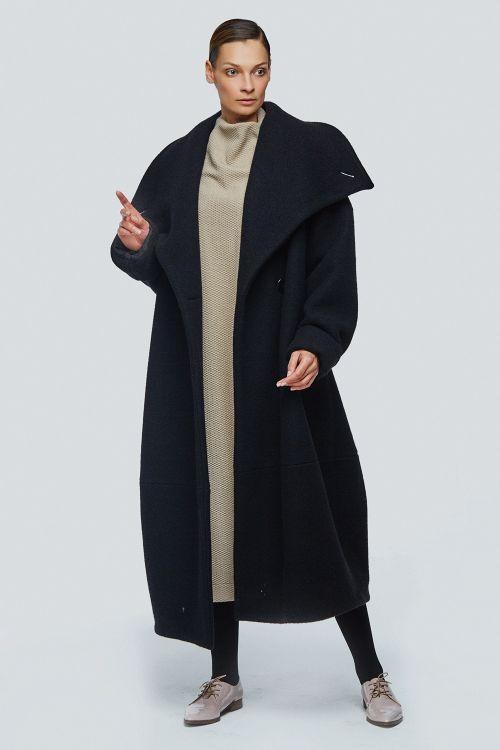 Lesel - Пальто кимоно-ромб шерсть