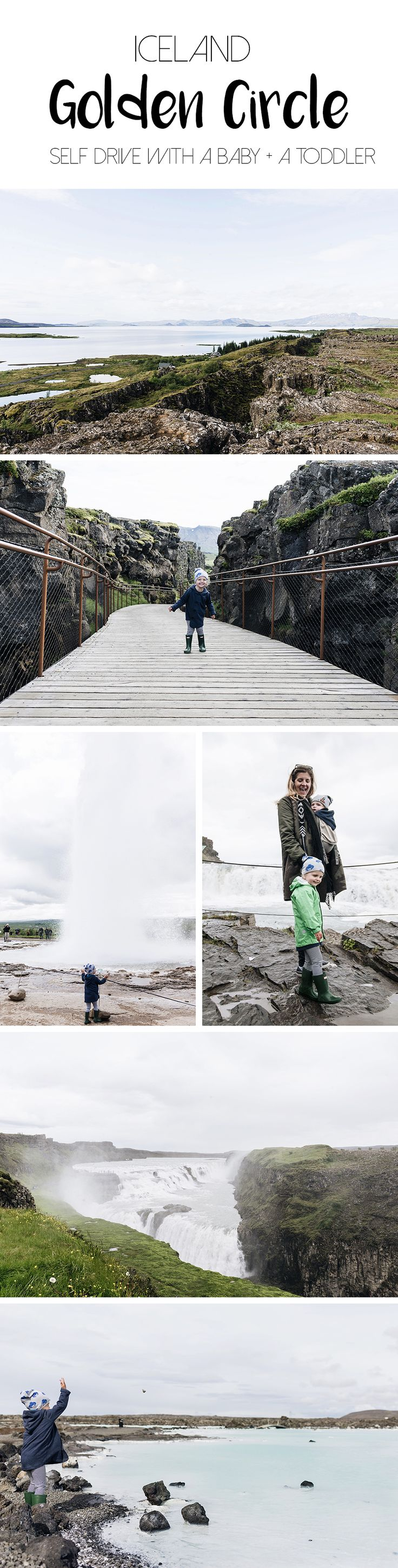 Iceland Golden Circle self drive with young kids - family travel with baby & toddler | Happy Grey Lucky