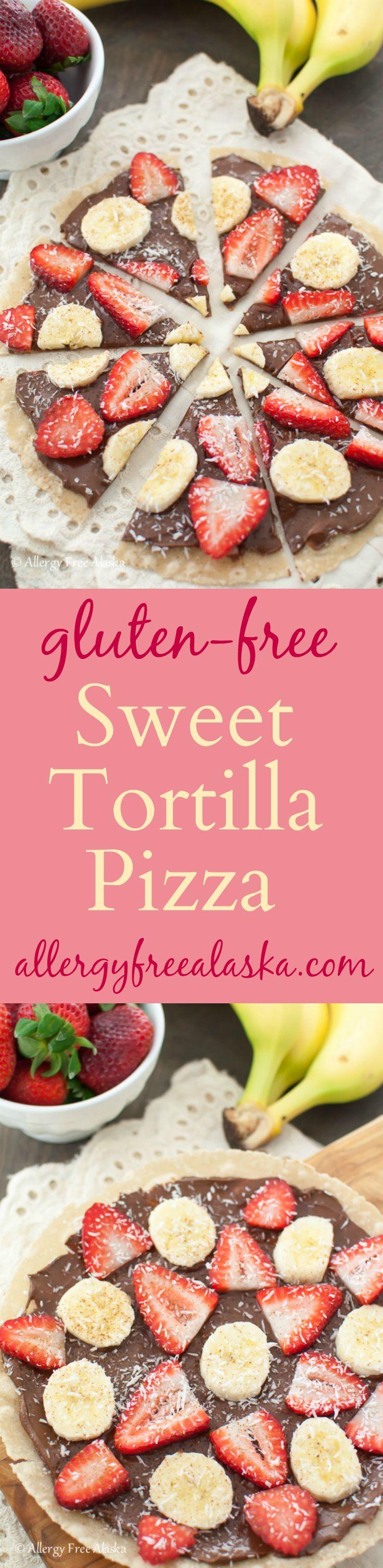 Gluten Free Sweet Tortilla Pizza from Allergy Free Alaska