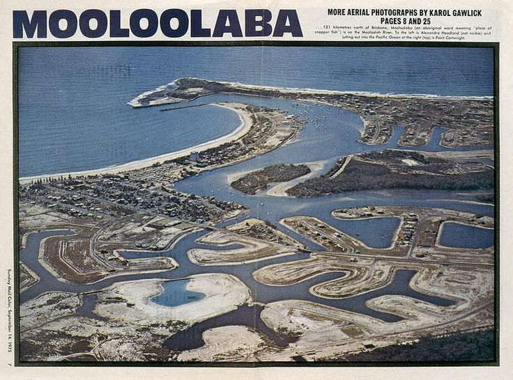 1975 MooLoolaba after Canals