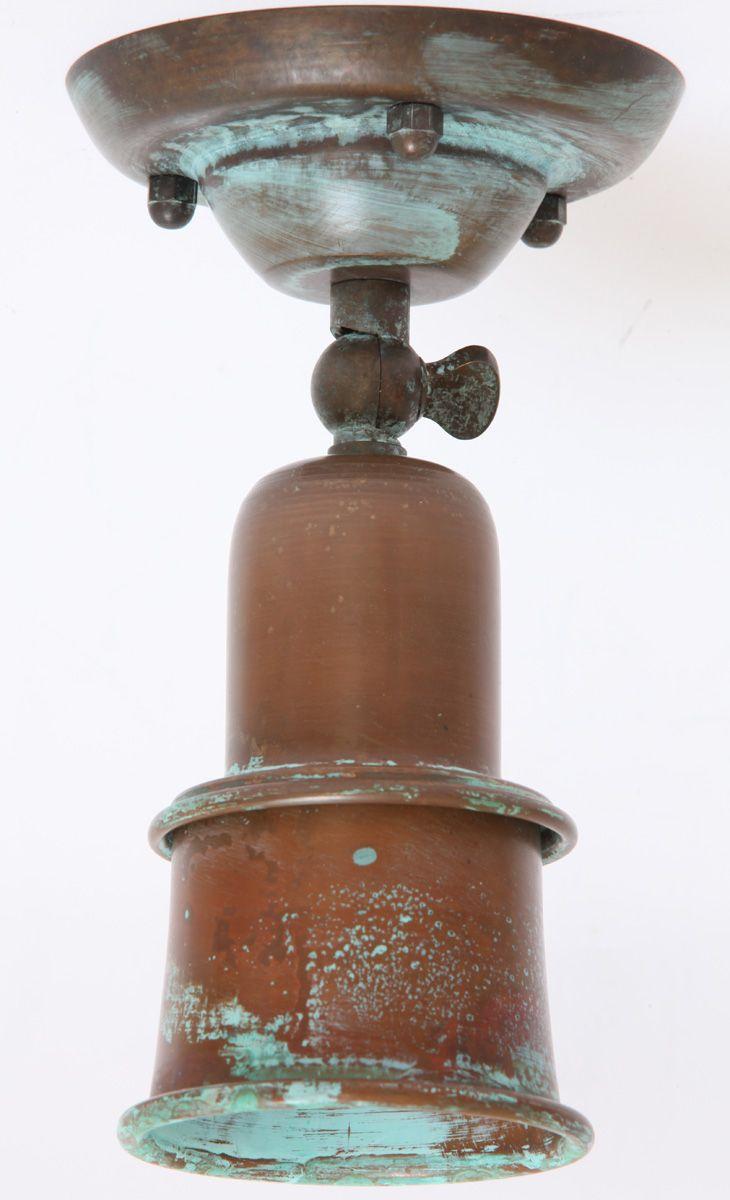 Rustikaler Strahler aus Messing von Aldo Bernardi aus Italien * Rustic spot light, handcrafted from antique brass in Italy