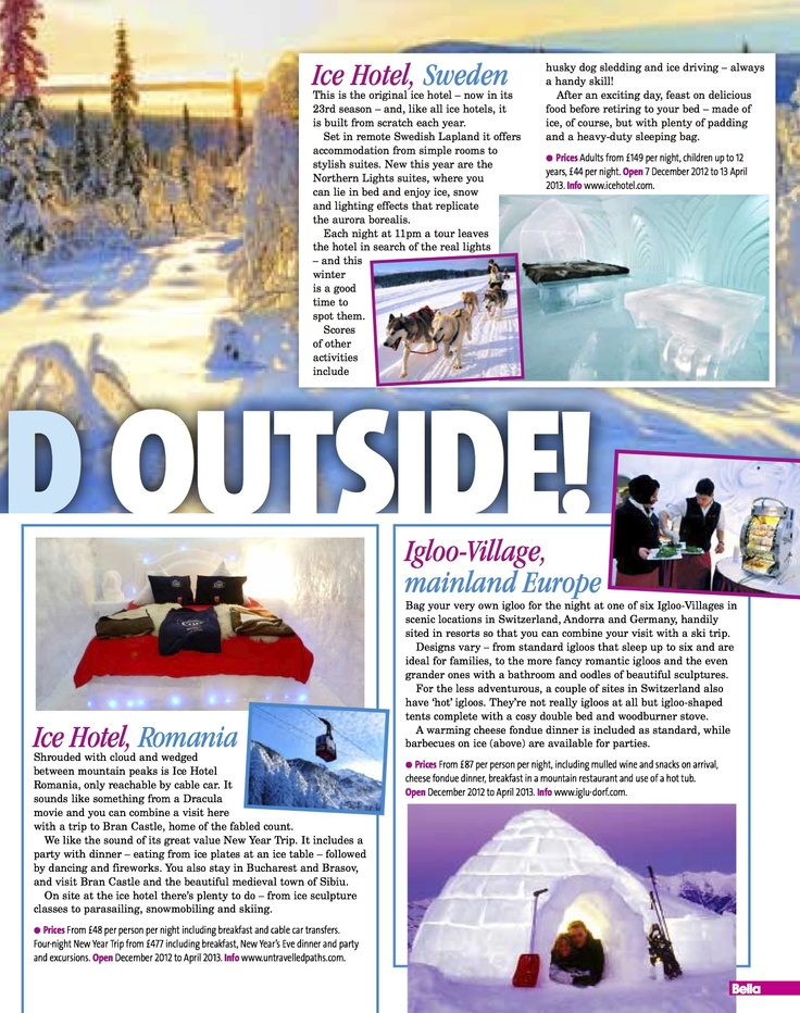 Bella Ice Hotel Romania Feature November 2012 2
