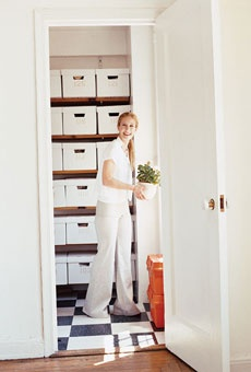 "Stylist's storage space, via Domino magazine, via brides.com. ""Our best box"" from The Container Store"