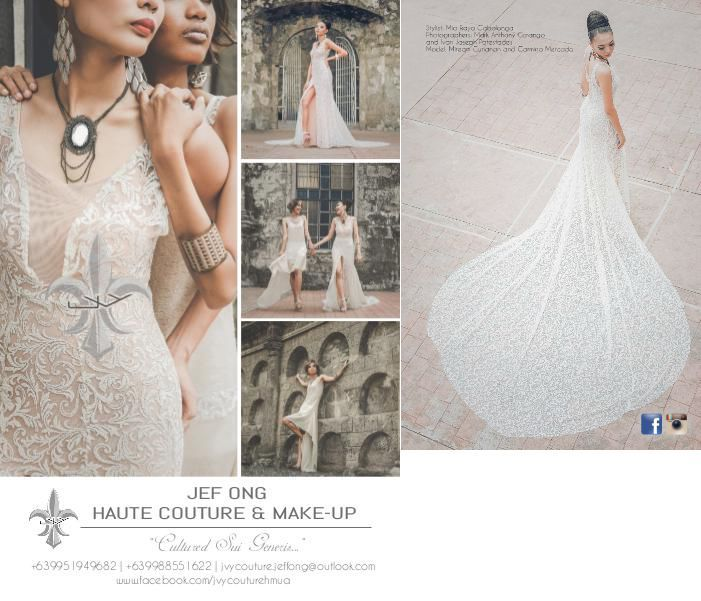 JEF ONG Haute Couture & Hair Makeup (fashion editorial styling) is proud advertiser of WEDDING DIGEST LUXE for LESS, the revised edition that came out last 2012. It is now available for free browsing at www.weddingdigest.com.ph  #WeddingDigestPh #emagazine #LuxeforLess #weddings #iloveweddings #designer #fashioneditorialstyling  #culturedsuigeneris
