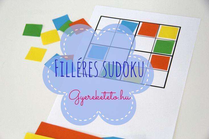 """Ebben a sudokuban az a legjobb, hogy a gyermeked maga készítheti el, még akkor is, ha """"csak"""" ovis. A játékkal pedig tornáztatja a gondolkodását is :)"""