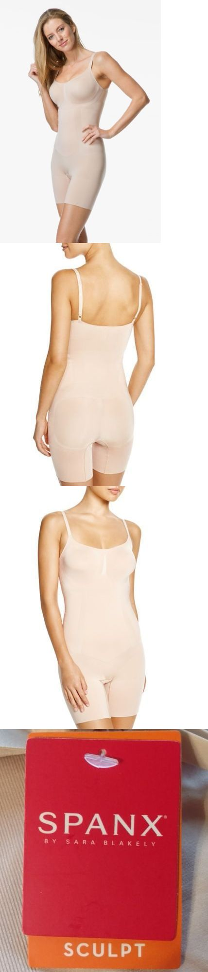 Women Shapewear: Nwt Spanx Ss1715 Oncore Mid Thigh Bodysuit Shaper Nude Sz Small S P -> BUY IT NOW ONLY: $44.99 on eBay!