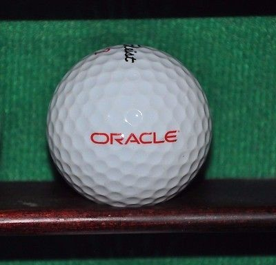 Oracle Corporation logo golf ball. Titleist.