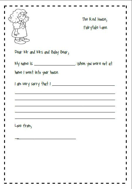 10 best Goldilocks and three bears images on Pinterest 3 bears - apology letter to school