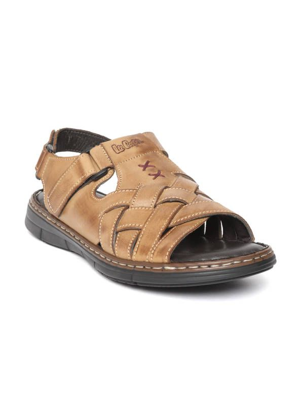 244456e35 Tan Brown Leather Comfort Sandals in 2019