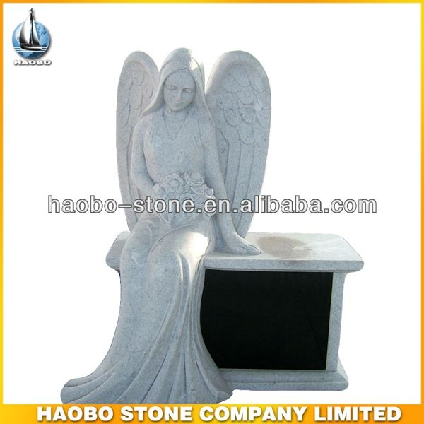 Haobo China Wholesale G603 Grey Granite Angel Headstone Design - Buy Headstones For Sale,Angel Headstones,Angel Etching Headstone Product on...