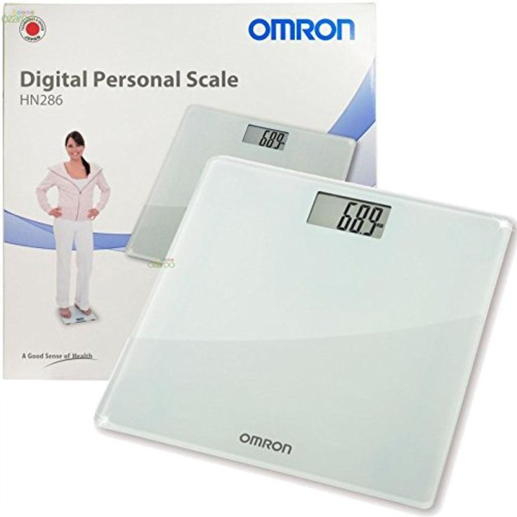 Omron Personal Digital Body Weight Bathroom Weighing Scales + LCD Display, HN286 - Frosted Glass - Brought to you by Avarsha.com
