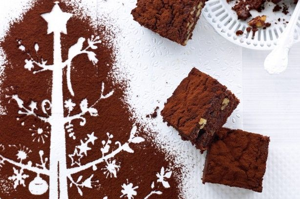 Merry Christmas! Fruit mince adds a lovely twist to a traditional brownie.