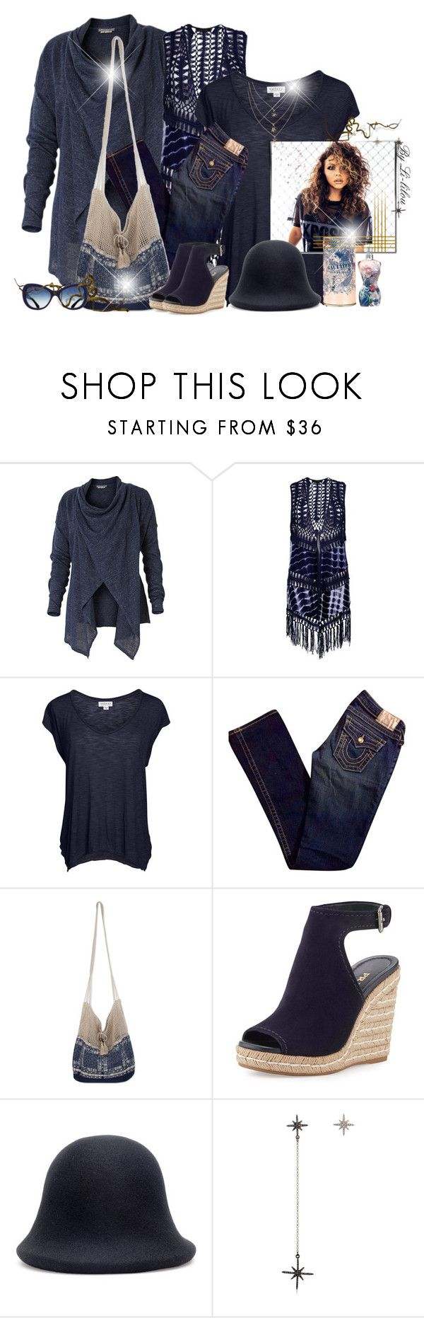"""~Life is blue~"" by li-lilou ❤ liked on Polyvore featuring Royal Robbins, Boohoo, Velvet by Graham & Spencer, True Religion, NOVICA, Prada, Yohji Yamamoto and Federica Tosi"
