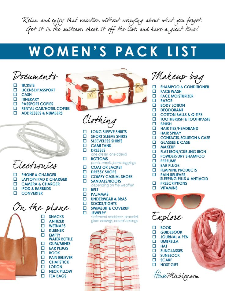 Best  Vacation Packing Checklist Ideas Only On