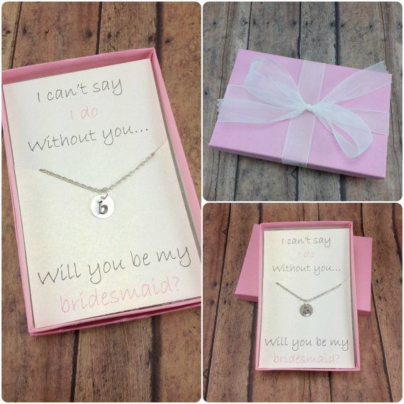 how to ask bridesmaids gifts
