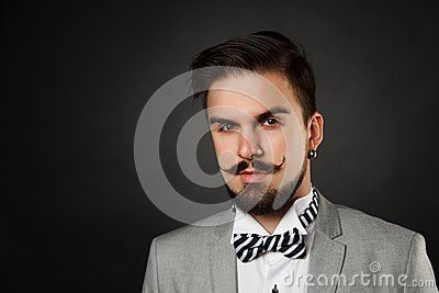 Handsome Guy With Beard And Mustache In Suit - Download From Over 50 Million High Quality Stock Photos, Images, Vectors. Sign up for FREE today. Image: 55314753