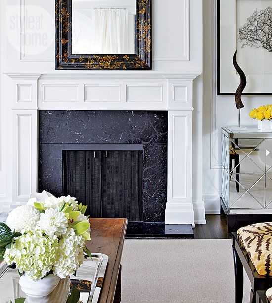 interior classic elegance white fireplace - Fireplace Surround Ideas