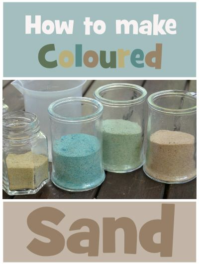 How to make Coloured Sand | Wildlife Fun 4 Kids