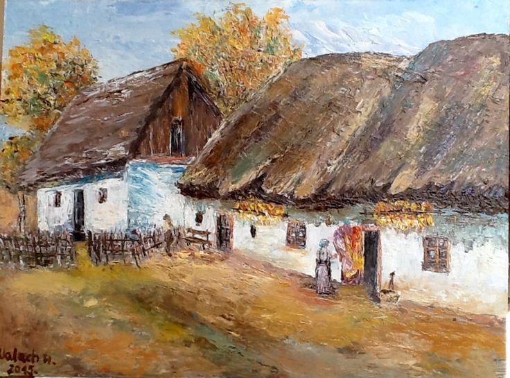 Tájkép - Valach Marcsi festménye