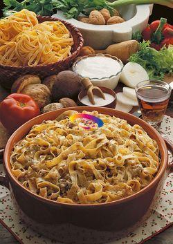 Tagliatelle alle noci e ai funghi | #CucinareMeglio via @CucinareMeglio