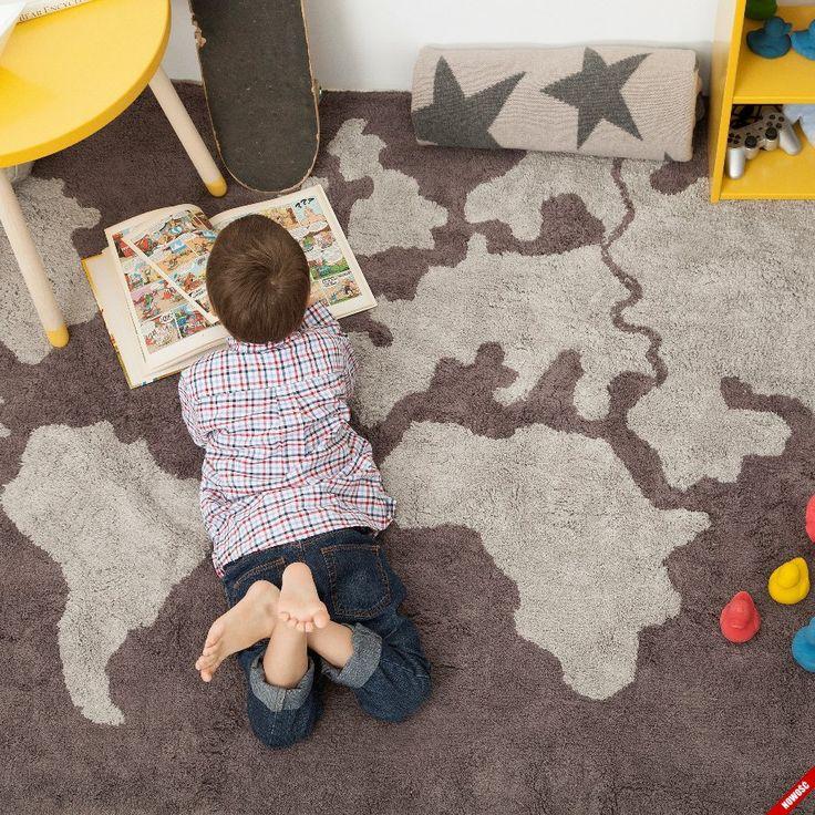Bawełniany dywan WORLD MAP Lorena Canals - NieMaJakwDomu