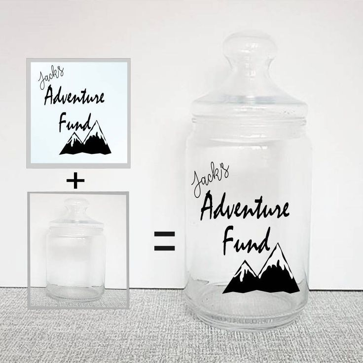 Travel fund decal travel fund jar vinyl sticker saving jar jar labels jar stickers travellng gift money jar personalised jar