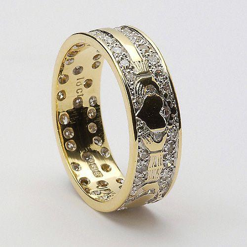 Grania Claddagh Wedding Ring (C-25) - Claddagh Wedding Rings