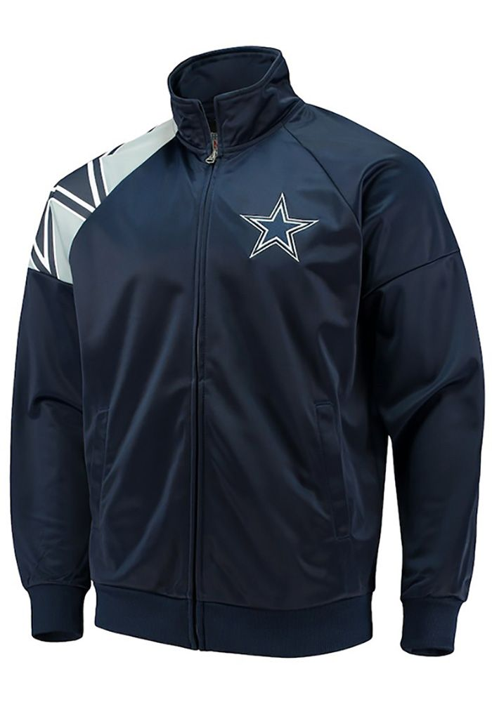 Dallas Cowboys Jacket Navy Reebok Hooded Craftsman Jacket