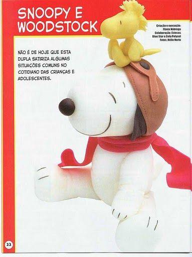 ARTESANATOS PASSO A PASSO: Snoopy em biscuit passo a passo