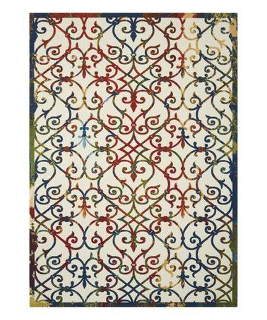 Another great find on #zulily! Red & Blue Victorian Indoor/Outdoor Rug #zulilyfinds