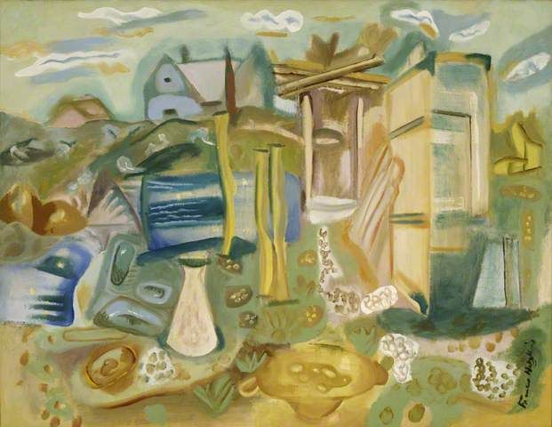 'Houses and Outhouses, Purbeck', Frances Hodgkins, 1938