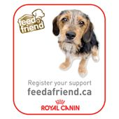 Register and Royal Canin Canada will donate 1lb of food to a local Canadian Animal Shelter or Rescue – toward a goal of 10,000 lb!