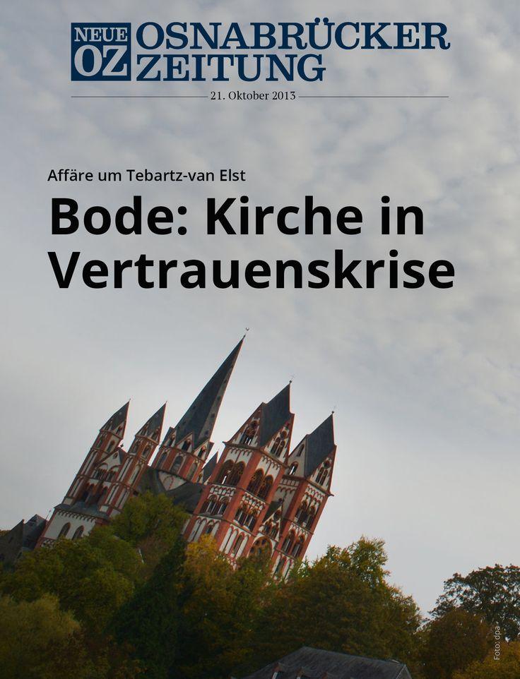 Das iPad-Cover für Dienstag: Der Osnabrücker hat sich über die Affäre um seinen Limburger Amtskollegen Franz-Peter Tebartz-van Elst geäußert. Er hält eine Rückkehr nach Limburg für schwierig.