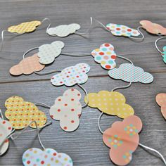 Guirlande de nuages en papier - kit diy                                                                                                                                                                                 Plus