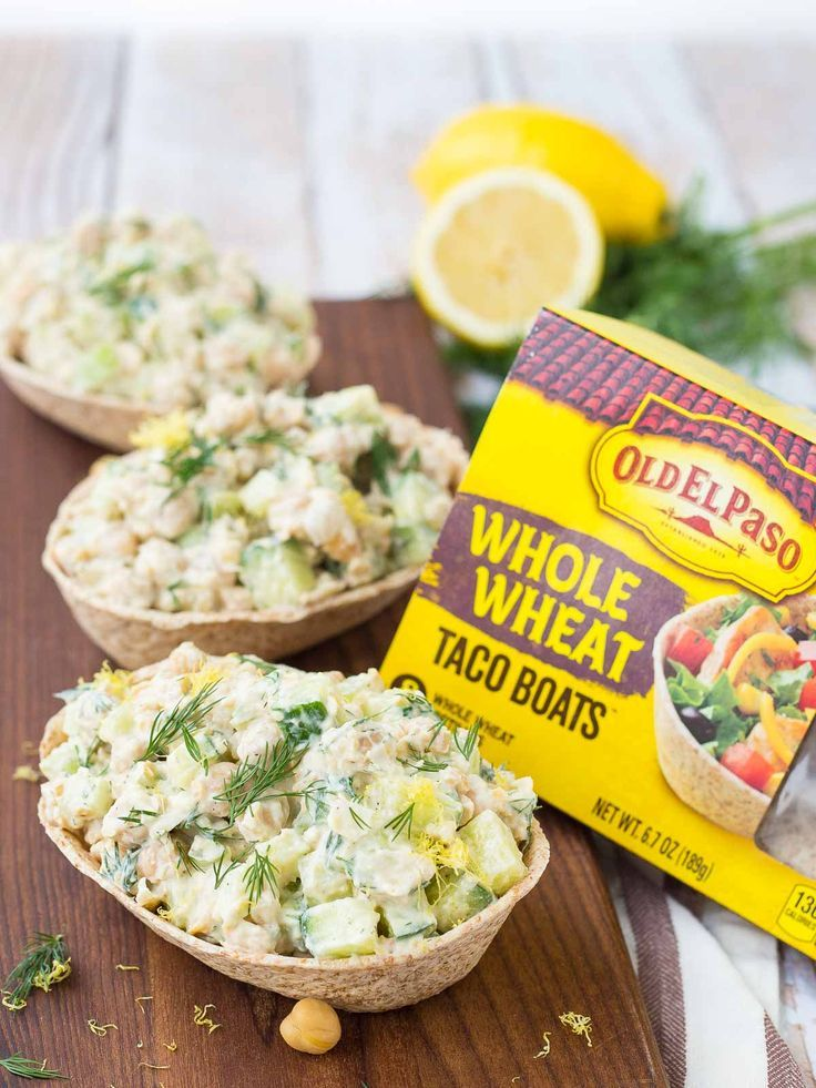 If you're looking for a healthy and easy to make vegetarian meal that will still fill you up and leave you feeling satisfied, look no further. This lemon dill chickpea salad recipe is just what you need. Get the recipe on http://RachelCooks.com! #sponsored /oldelpaso/