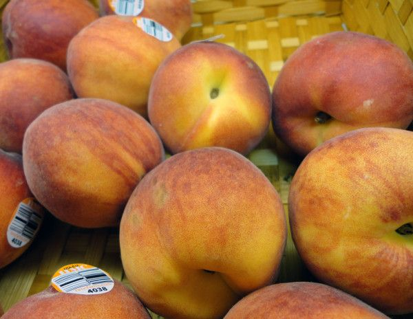 Freshly picked Jersey peaches available now at Gregorio's.