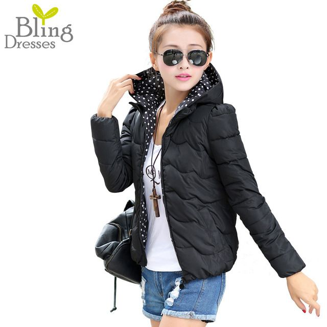 New Winter Outdoor Parka Women 2015 Fashion Solid Color Short Style Cotton Down Coat Warm Winter Coat Plus High Quality