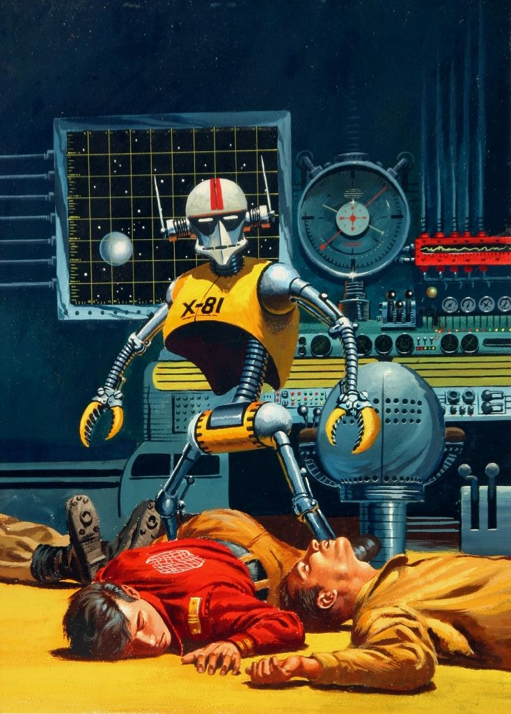 starfire astronauts laser beam robots - photo #30