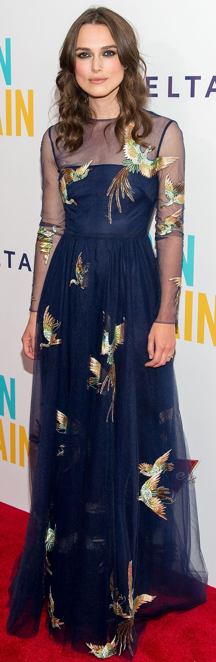 Keira Knightley at the Begin Again premiere in  Valentino and Tiffany - I'm not a Keira fan but the dress is beautiful.