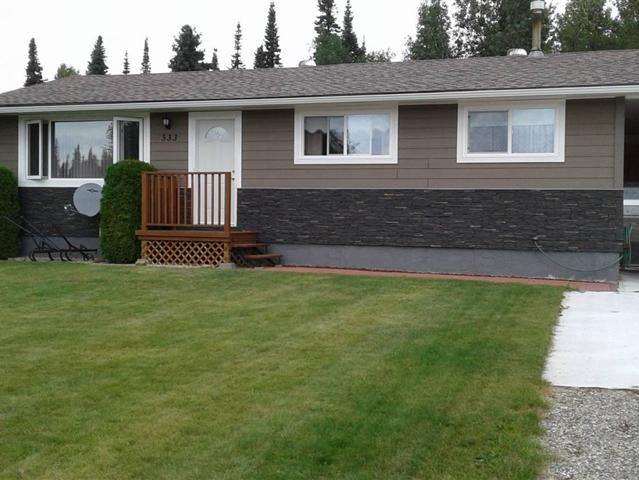 333 Crooked River Private green space lot close to town and school. Three bdrm bungalow. Natural gas fireplace in living room formal dining area. Updated kitchen (2006) updated main bath (2012). Down with large family room with natural gas heater lots of storage workshop area laundry and cold room plus 3 pc bath. Updated roof (2008) 35 yr shingles. New windows hardi boy siding eaves and carport posts (2012). Inspected and approved electrical (2016) HWT and furnace (2001).