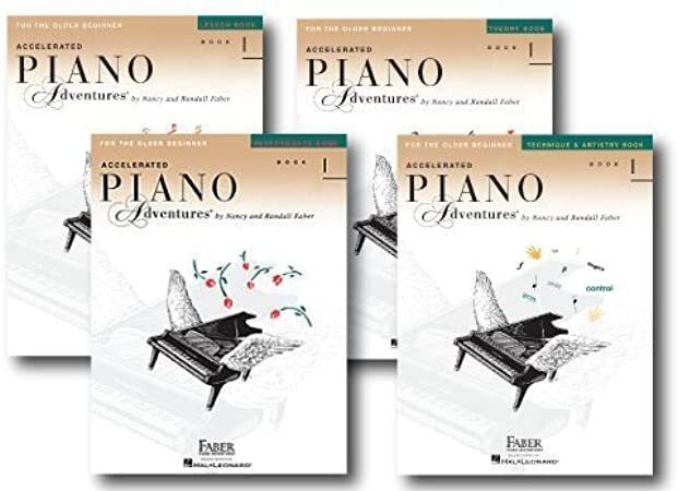 Download Accelerated Piano Adventures Level 1 Four Book Learning Library Includes Lesson Theor Books Free Reading Learn Music