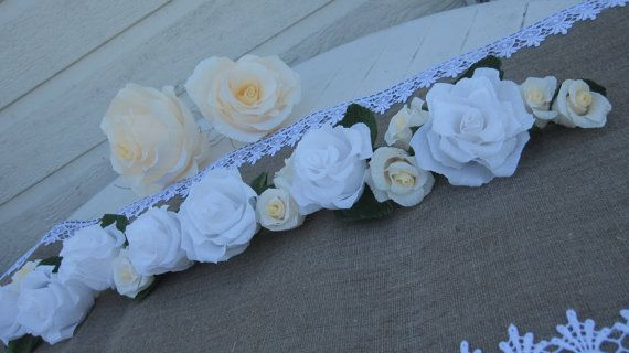 Garland Wedding GIRLANDE decorations wedding TABLE by moniaflowers