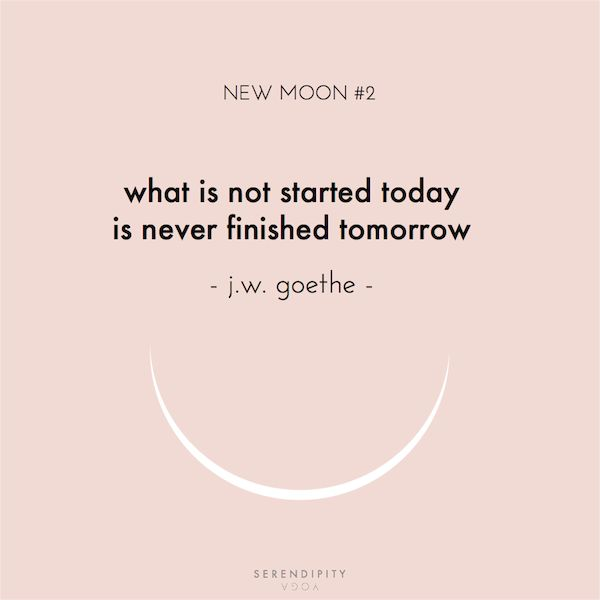 what is not started today is never finished tomorrow // goethe