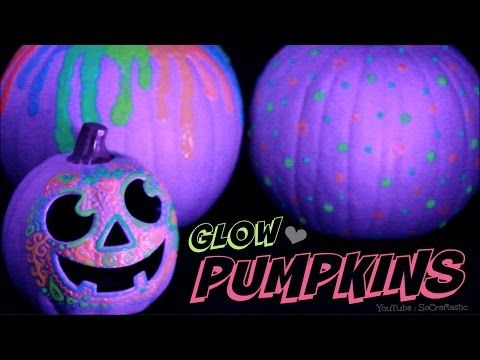 GLOW IN THE DARK PUMPKIN - Halloween DIY - Easy No Carve Pumpkins How To - YouTube